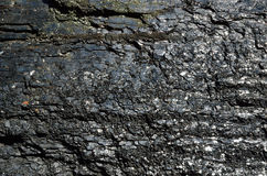 Close-up of black fossil coal surface Royalty Free Stock Image