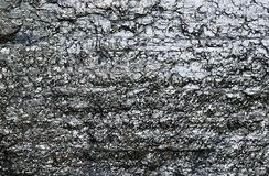 Close-up of black fossil coal surface Stock Image