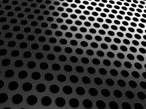 Close-up of black grill on black. Close-up of black grill over black background Royalty Free Stock Photo