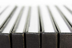 Close up Black Hardcover. Stock Image