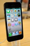 Close up of black iPhone 5 Stock Photography