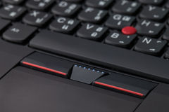 Close up of a black keyboard english and thai alphabet Stock Photo