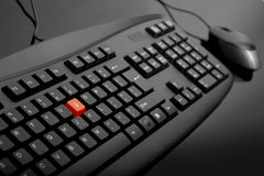 Close-up of black keyboard with mouse Stock Photography