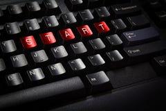 Close up  black keyboard Stock Photography