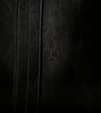 Close-up of black leather texture as background Royalty Free Stock Photography