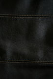 Close-up of black leather texture as background Stock Photo