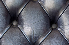 Close up on black leathers sofa texture background. Pub in Londo Royalty Free Stock Images