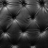 Close up black luxury buttoned Royalty Free Stock Image