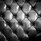 Close up black luxury buttoned leather Royalty Free Stock Photo