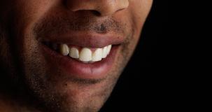 Close up on black man smiling Royalty Free Stock Images