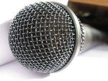 Close-up of a black mic Stock Photo