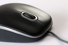 Close-up of a black mouse Royalty Free Stock Photos