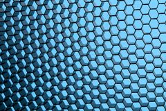 Close up of black net. Blue light. Royalty Free Stock Image