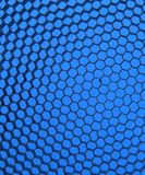 Close up of black net. Blue light. Stock Image