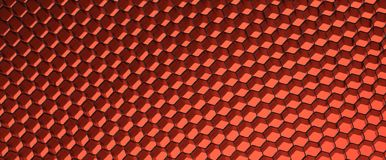 Close up of black net. Red light. Royalty Free Stock Photo