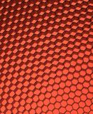 Close up of black net. Red light. Royalty Free Stock Photos