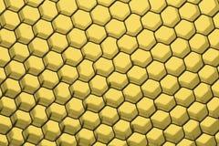 Close up of black net. Yellow light. Royalty Free Stock Photo
