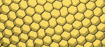 Close up of black net. Yellow light. Royalty Free Stock Images