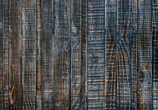 Close up of black old wood wall texture Royalty Free Stock Photo