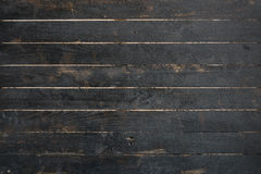 Close up of black old wood wall texture. Background Royalty Free Stock Images