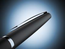 Close up of black pen Stock Photo