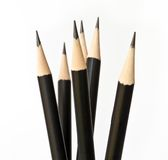 Close-up of black pencil. Royalty Free Stock Photography