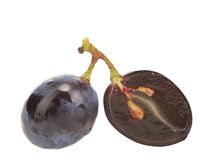 Close up of black ripe grapes. Stock Photo