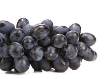 Close up of black ripe grapes. Stock Photos