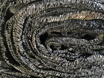 Black shading net texture Stock Photography