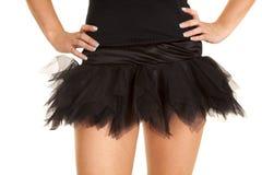 Close up black short tutu Royalty Free Stock Images