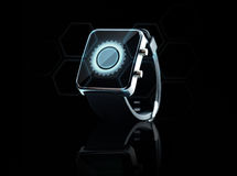 Close up of black smart watch Royalty Free Stock Images