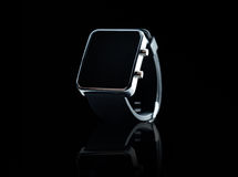 Close up of black smart watch Stock Photo