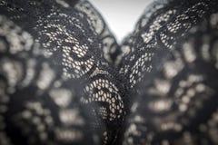 Close up of black, stylish bra Royalty Free Stock Photography
