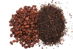 Close up of black tea and coffee Stock Image