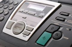 Close up of black telephone fax Stock Image