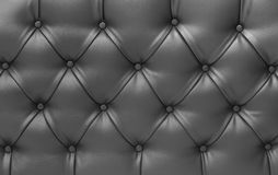 Close up black  vintage sofa leather texture. Close up black  vintage sofa leather buttoned armchair texture Royalty Free Stock Photo