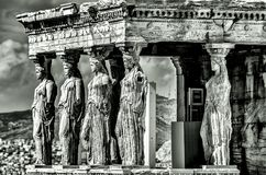 Cariatides black and white Stock Photo