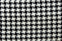 Black & white cotton texture. Stock Photos