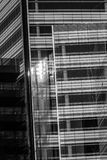 Close Up Of Black And White Glass Building Royalty Free Stock Photo