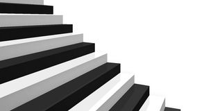Close-up black and white glossy stairs Royalty Free Stock Image