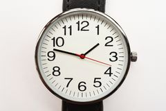 Close up of black wristwatches. For background Stock Image