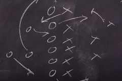 Close up of blackboard for coaching tactics Stock Photography