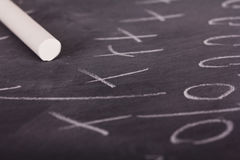 Close up of blackboard for coaching tactics. And strategies Stock Photo