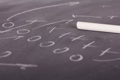 Close up of blackboard for coaching tactics. And strategies Royalty Free Stock Photo