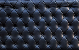 Close up of blackish luxury sofa leather texture use as textured Royalty Free Stock Photo