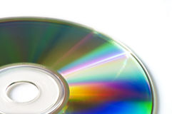 Close up of of blank compact disk or dvd Royalty Free Stock Images