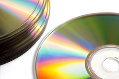 Close up of of blank compact disk or dvd, Royalty Free Stock Photos