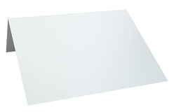 Close up of blank folded leaflet. 3d rendering isolated on white background.  Royalty Free Stock Image