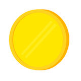 Close up of Blank Golden Coin Royalty Free Stock Images