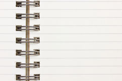 Close Up of Blank Notebook. Royalty Free Stock Photos